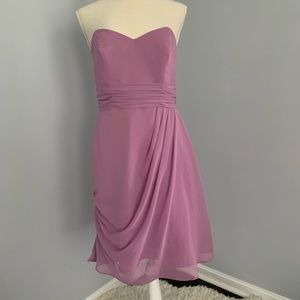 Alfred Angelo Lavender Chiffon Strapless Dress